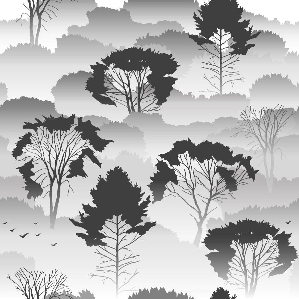 Papel de Parede Floresta Enevoada