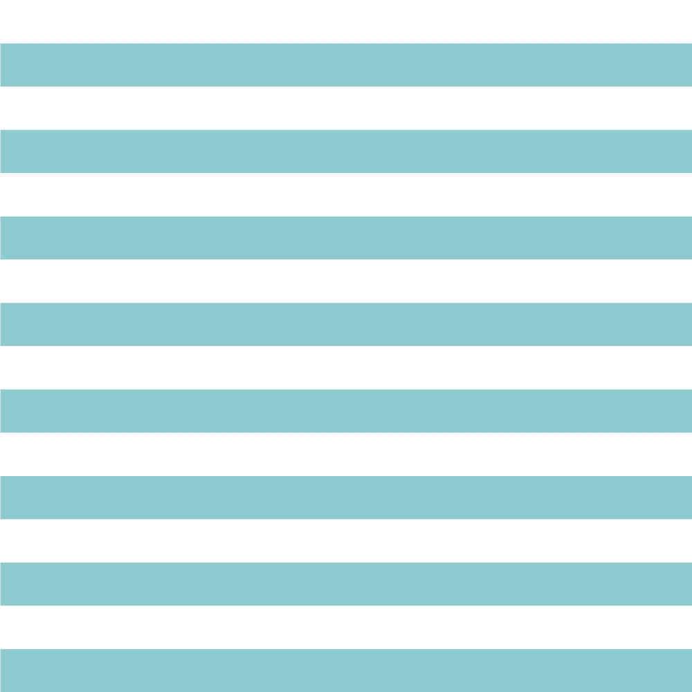 Papel de Parede Infantil Listras (Azul Turquesa)