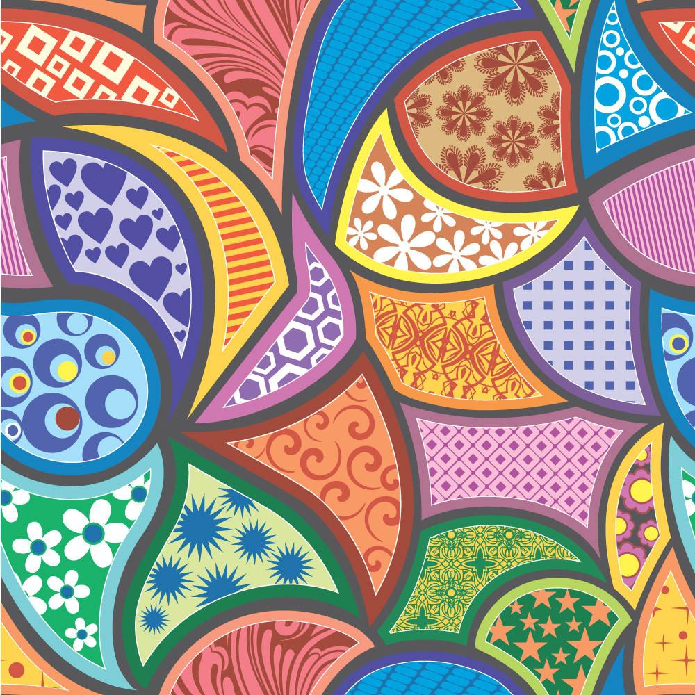 Papel de Parede Abstrato Colorido