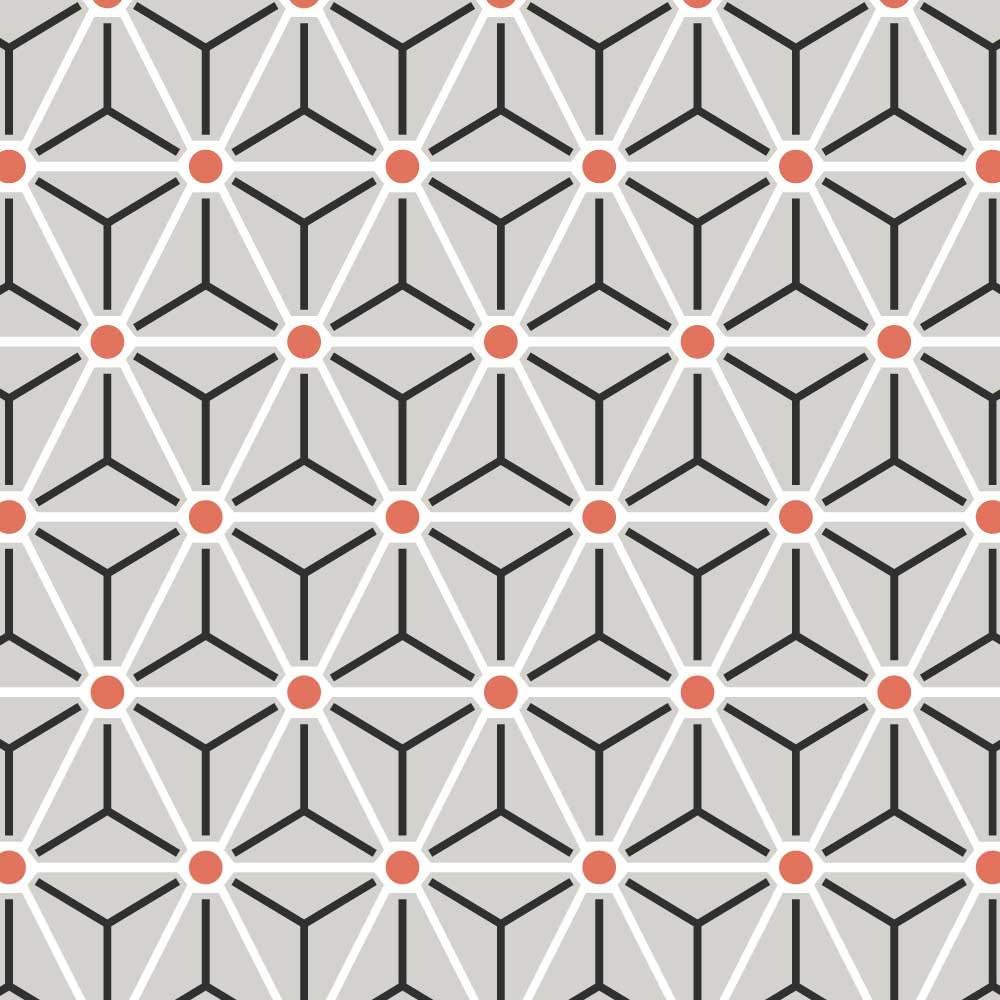 Papel de Parede Triângulos Linhas e Bolas