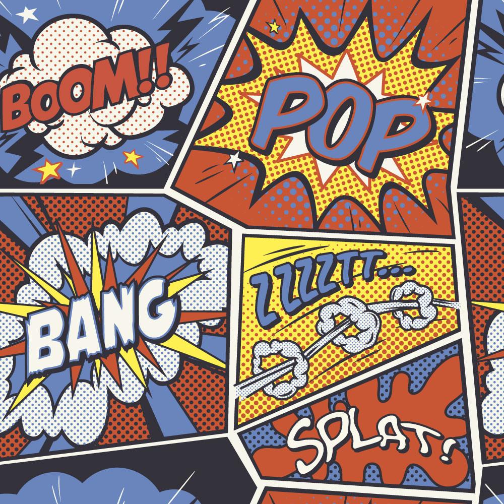 Papel de Parede Pop Art Retro
