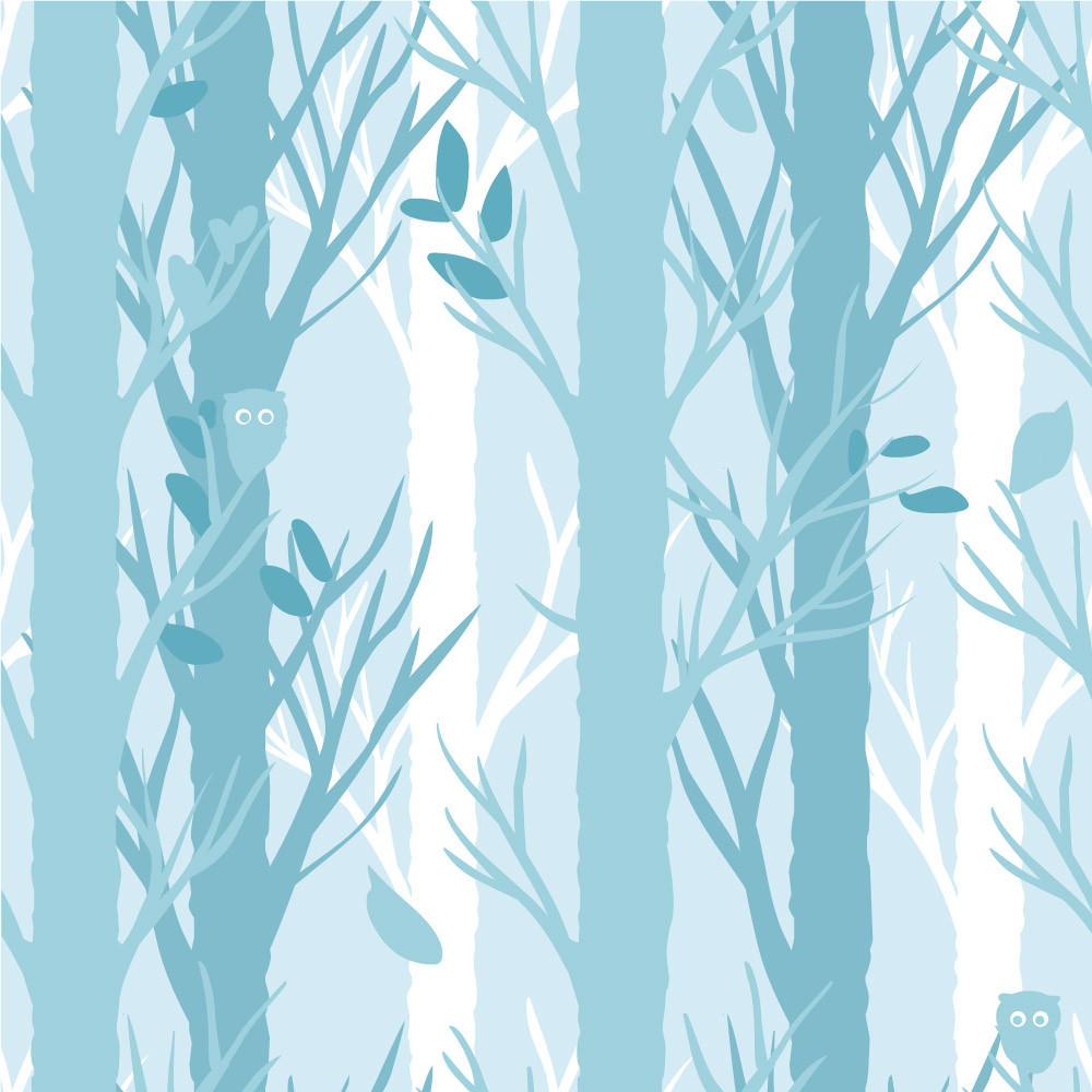Papel de Parede Árvores (Azul)