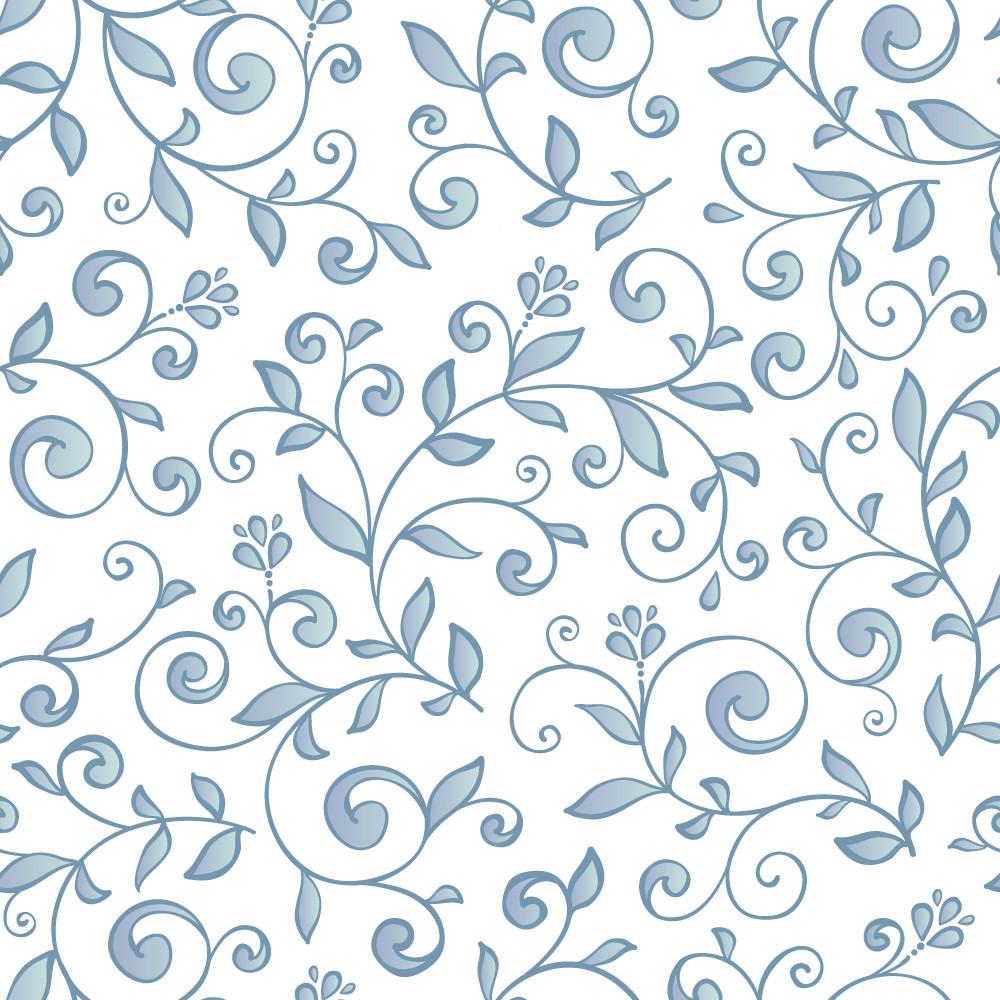 Papel de Parede Estampa Floral (Azul)