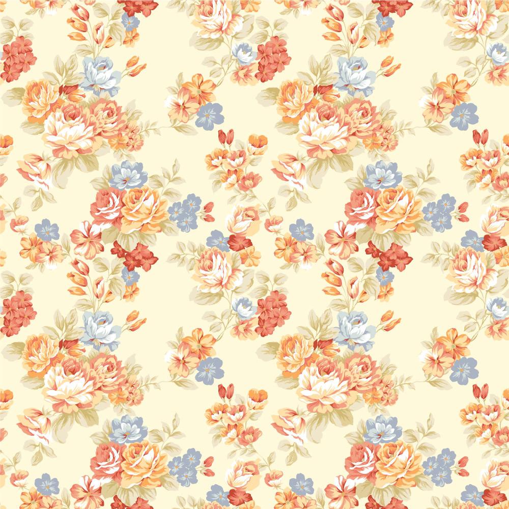 Papel de Parede Floral Aquarela