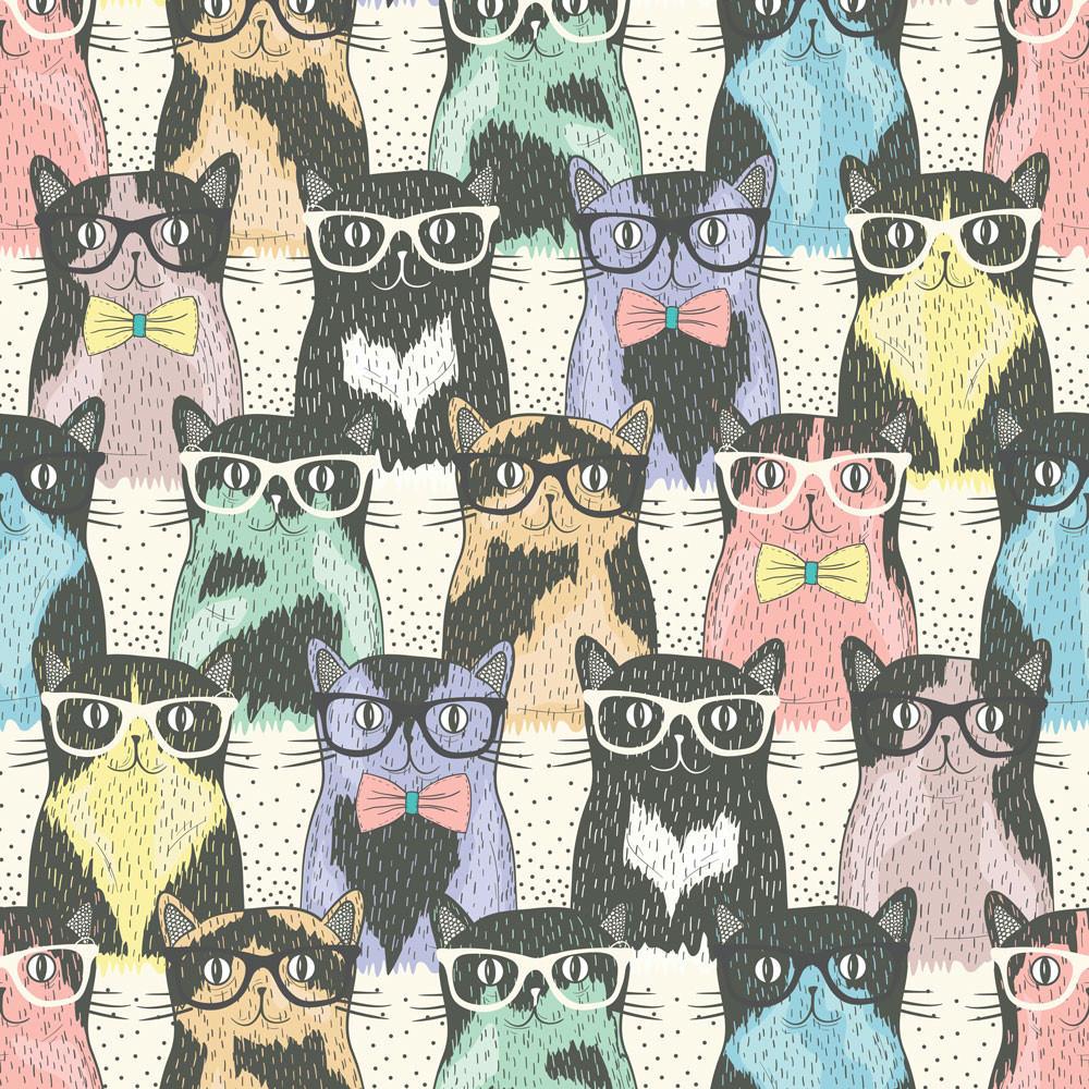 Papel de Parede Gatinhos de Óculos