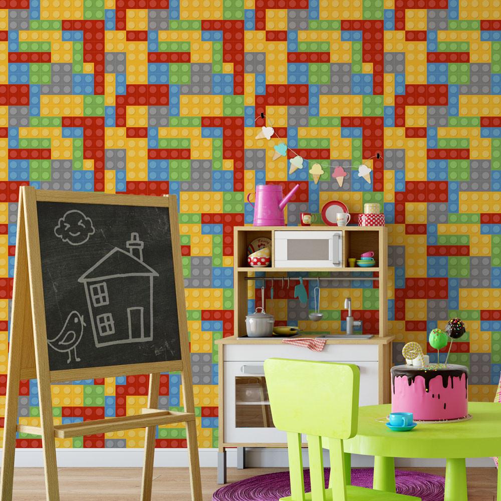 Papel de Parede Infantil Lego