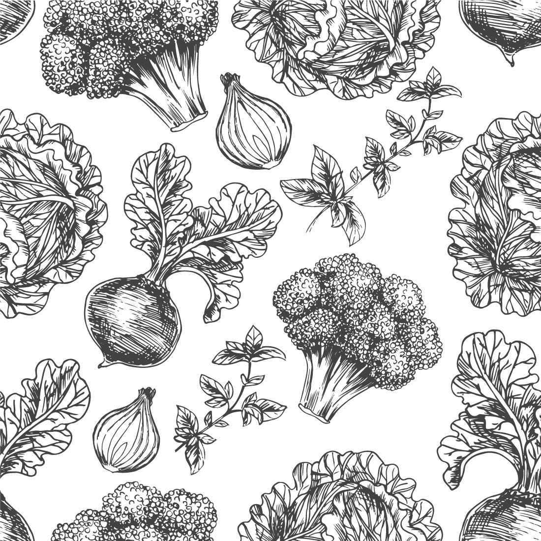 Papel de Parede Legumes Cinza