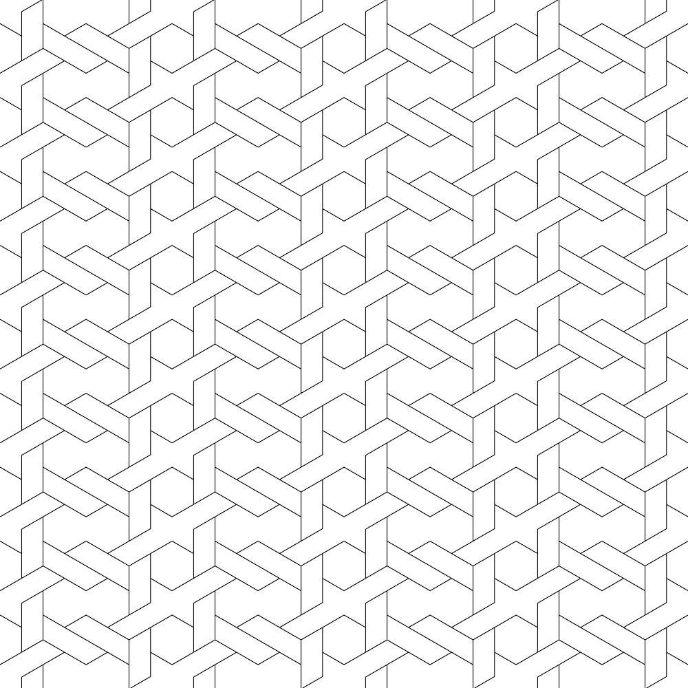 Papel de Parede Padrão Geométrico Abstrato