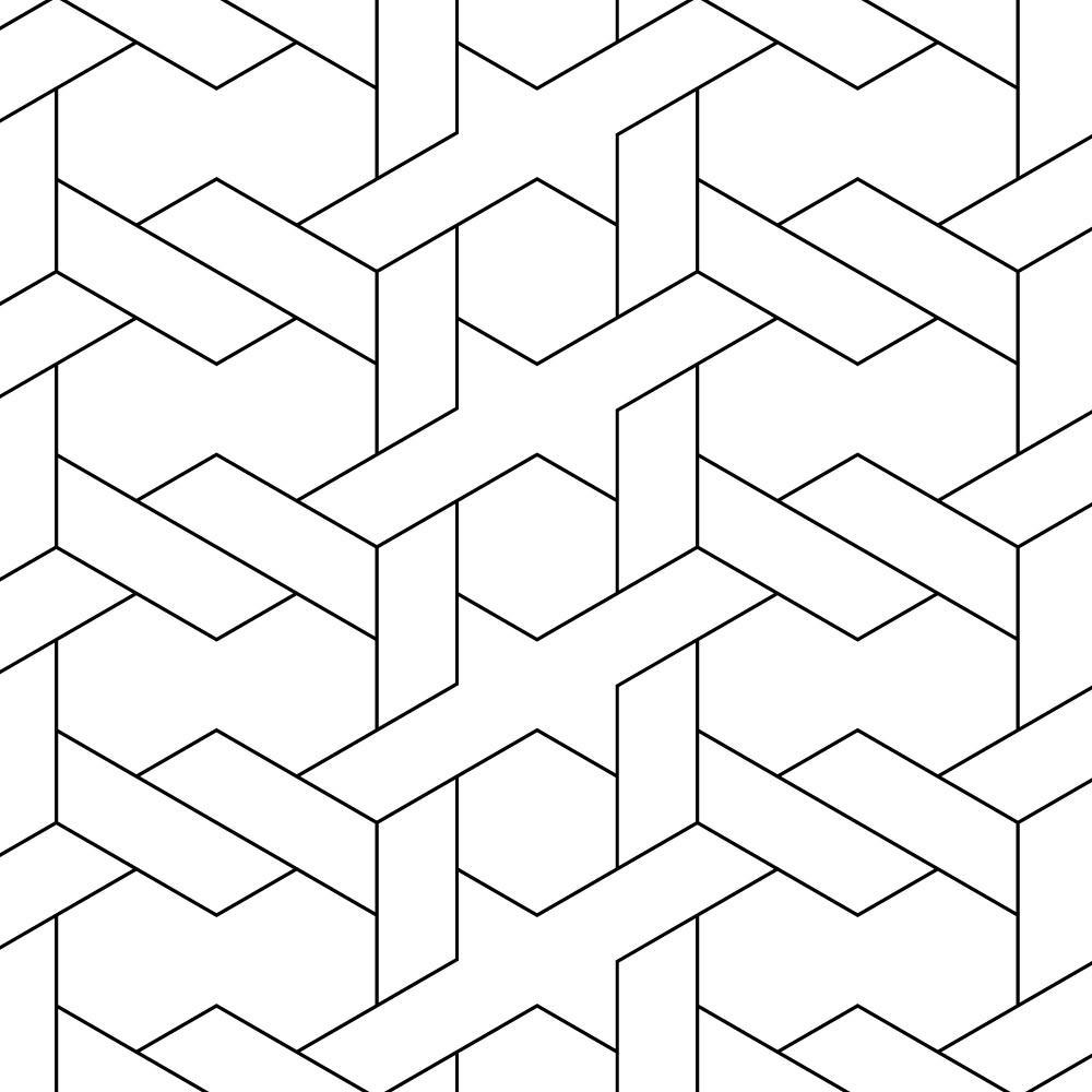Papel de Parede Padrão Geométrico Abstrato II