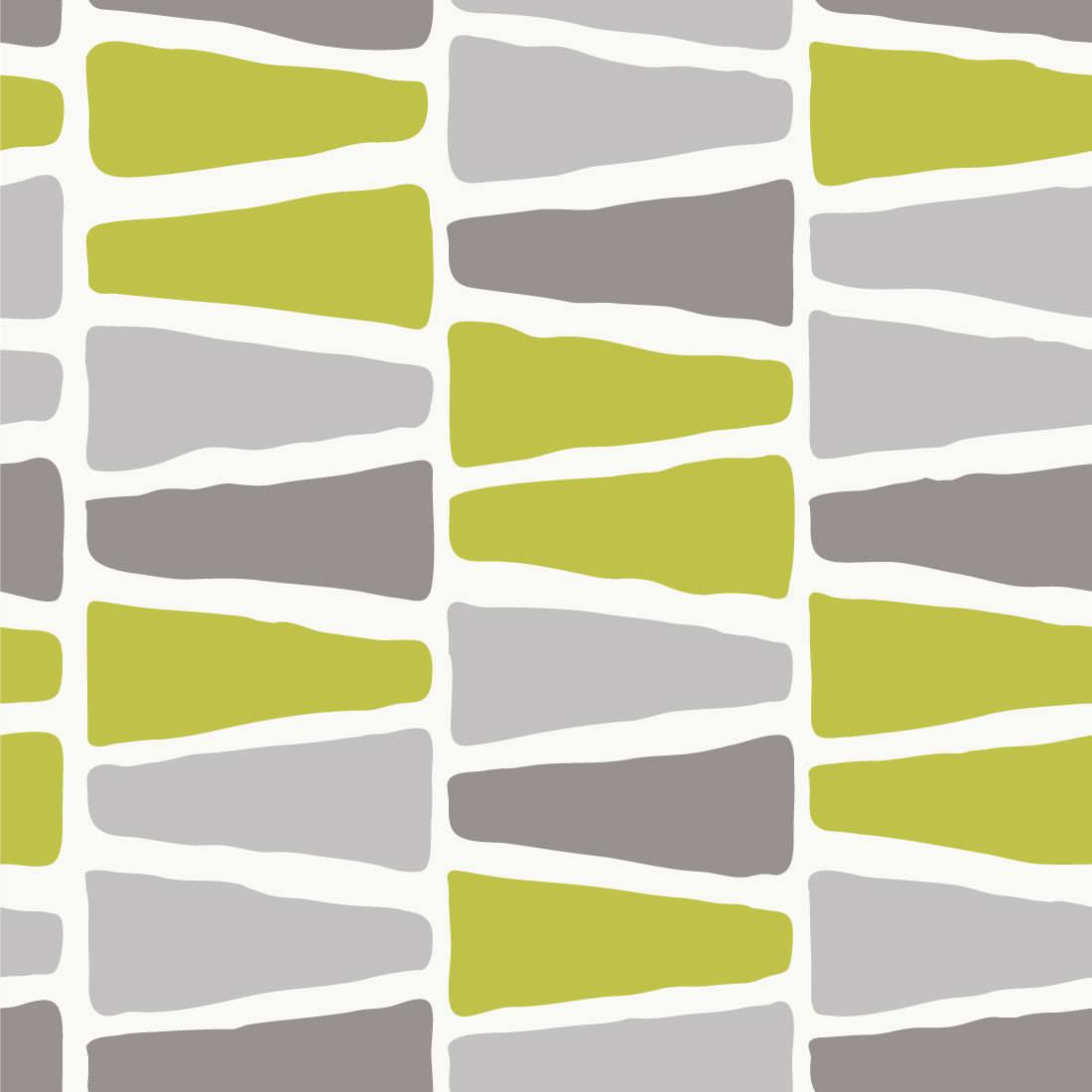 Papel de Parede Triângulos Irregulares ( verde e cinza )