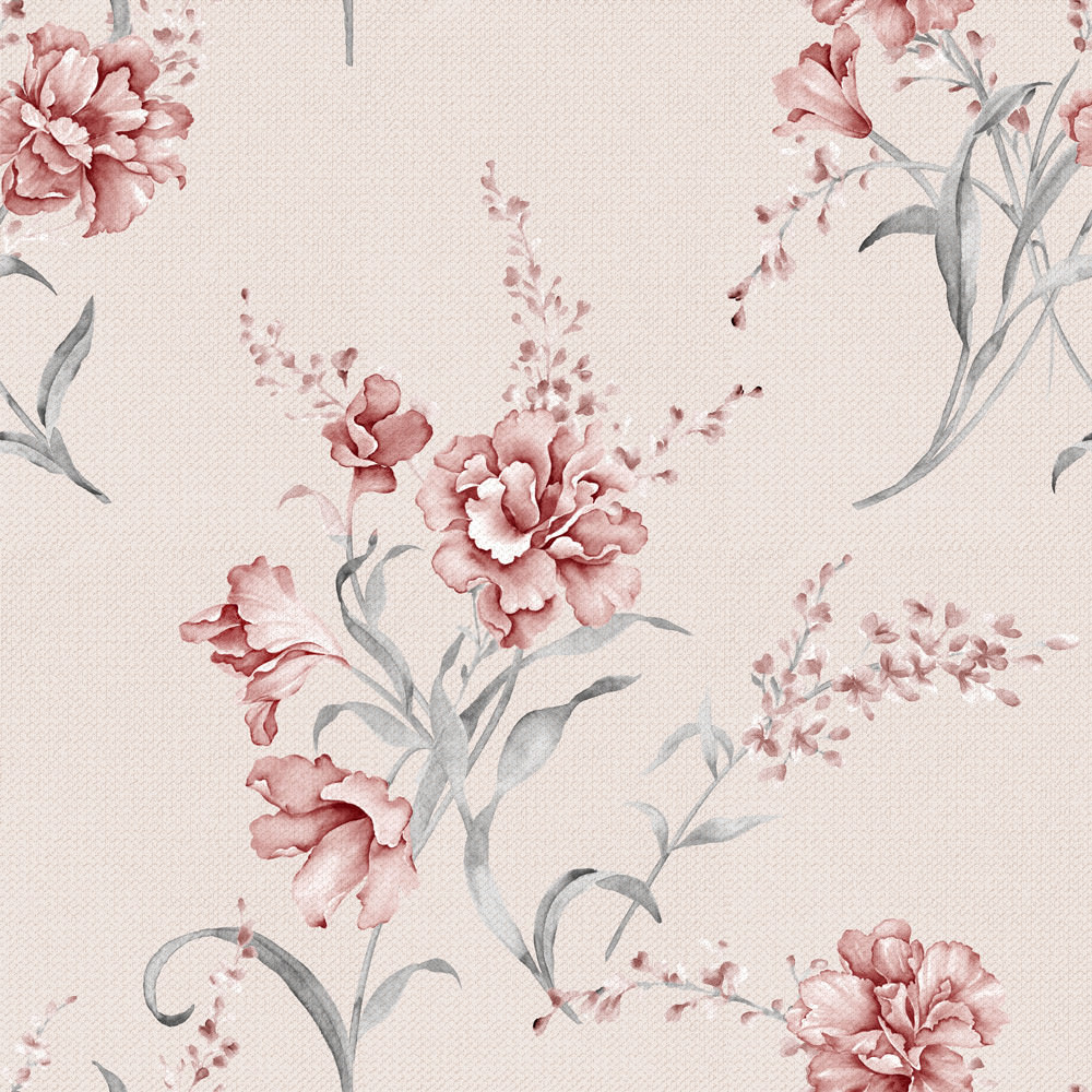Papel de Parede Floral Azaléia Rosada