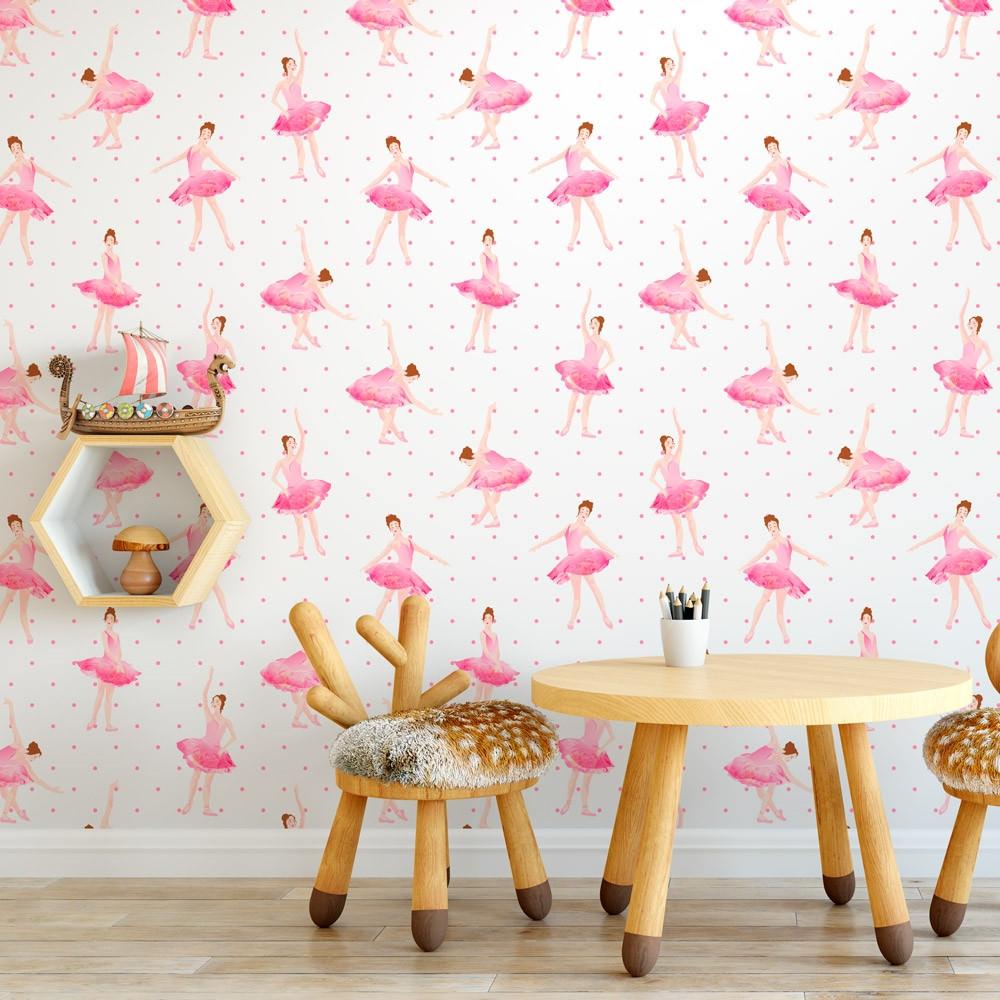 Papel de parede infantil bailarinas modelo exclusivo - Papel infantil para paredes ...