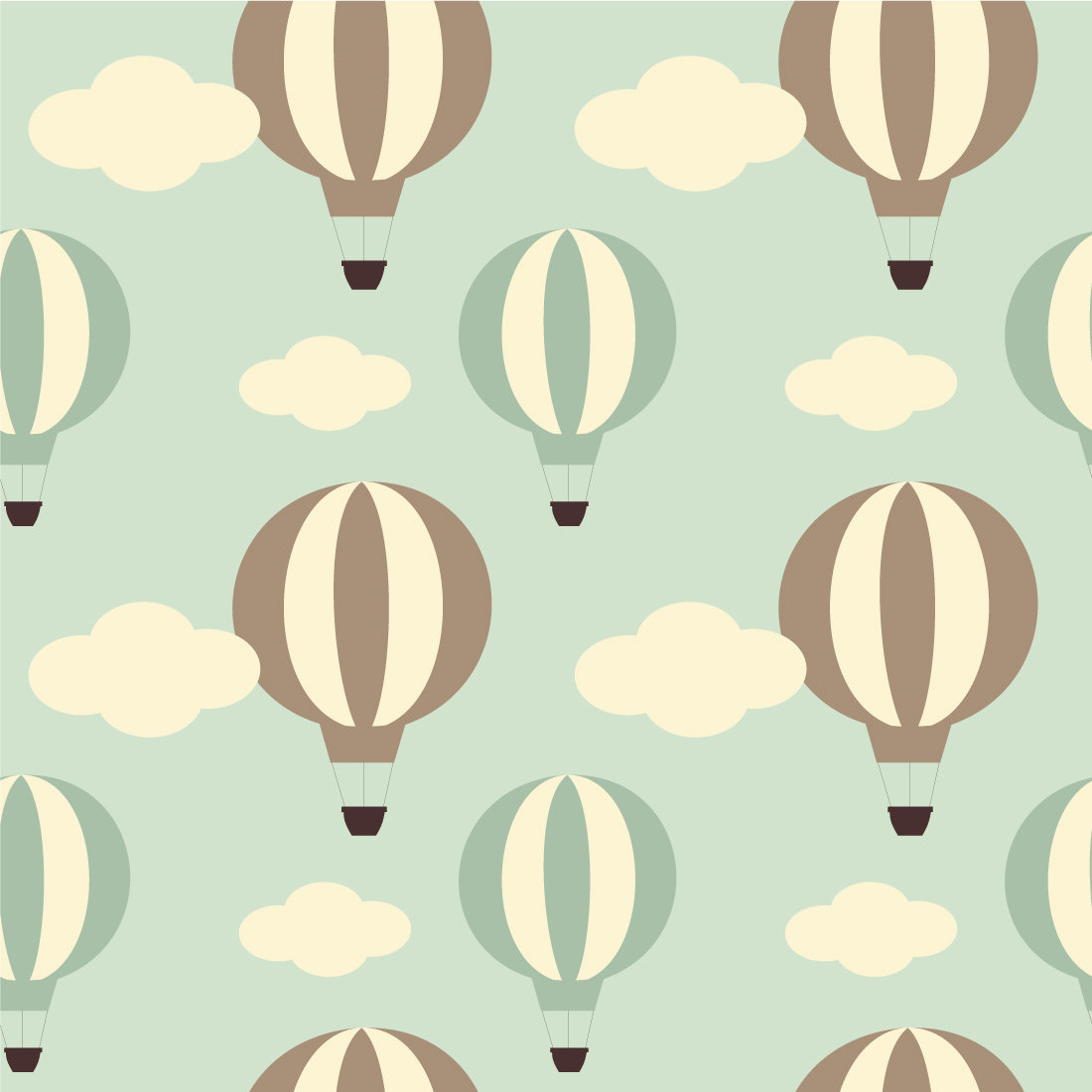 Papel de Parede Minimalista Balões