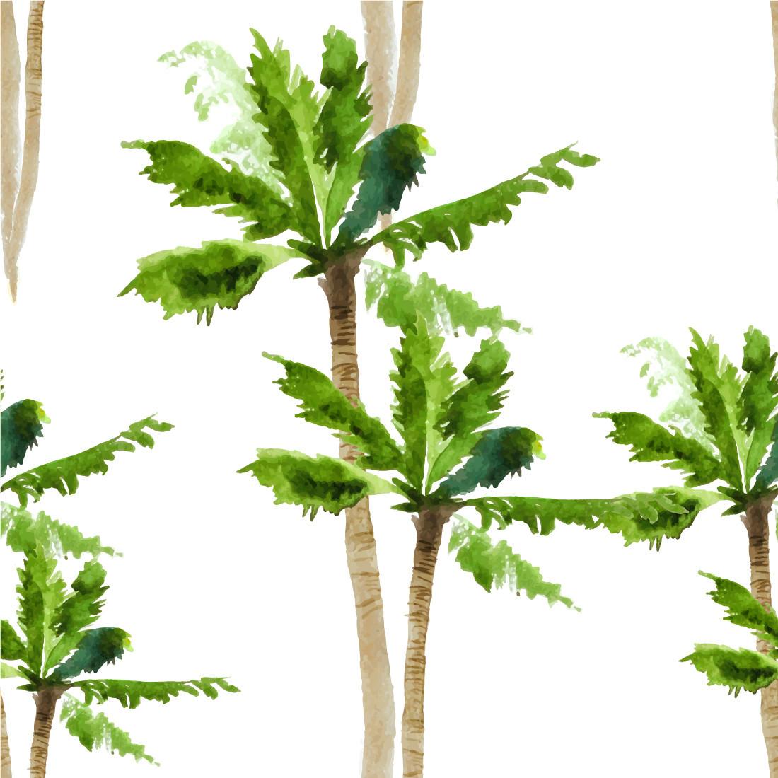 Papel De Parede Tropical Coqueiros