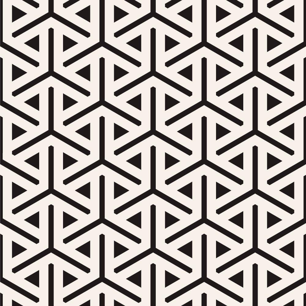 Papel de Parede Decorativo Abstrato Triângulos