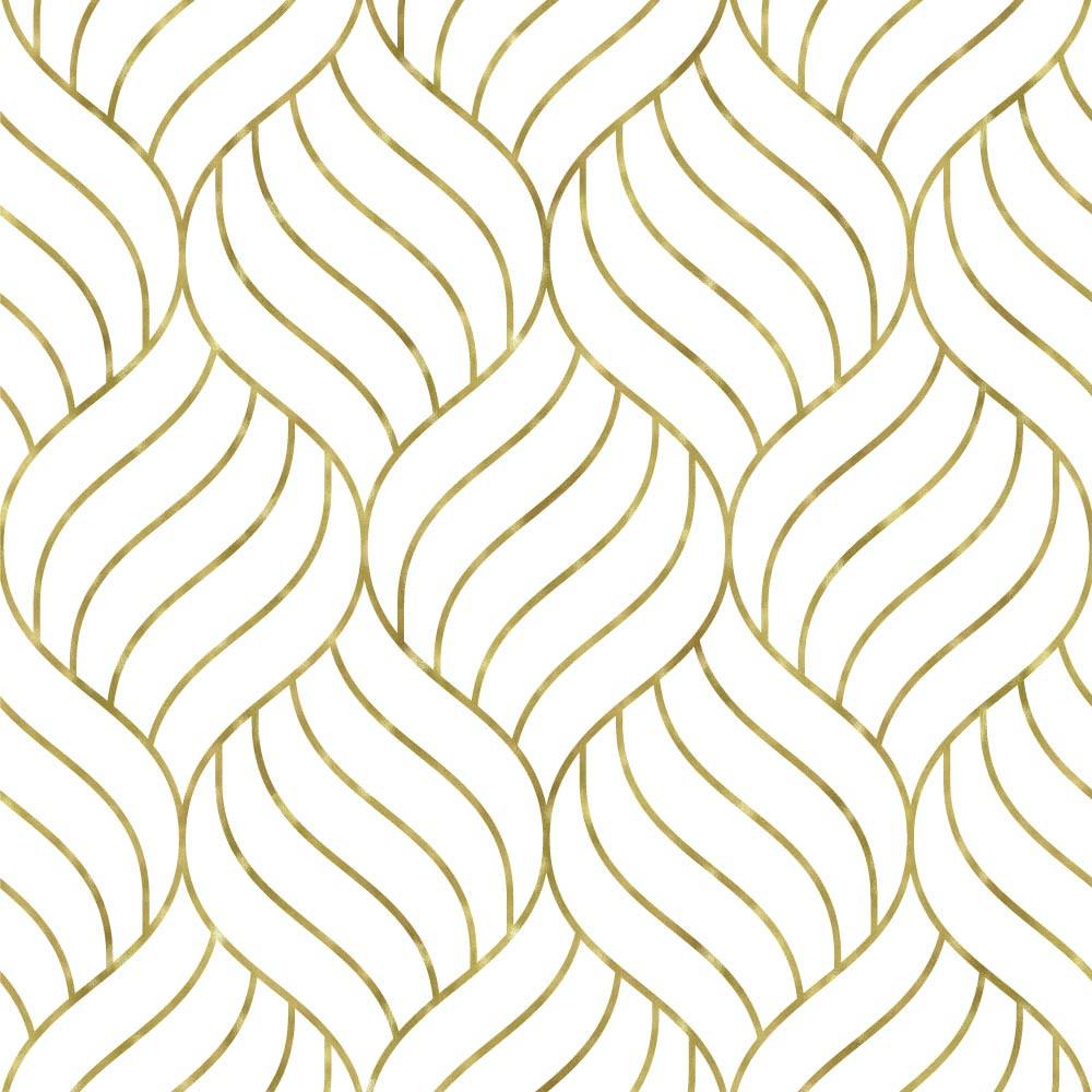 Papel de Parede Decorativo Linhas (Ouro)