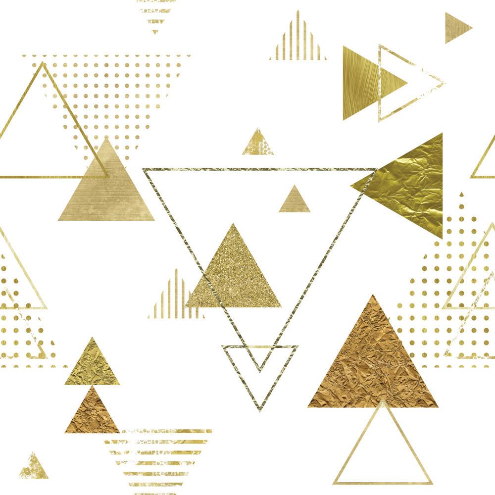 Papel de Parede Triângulos Dourados