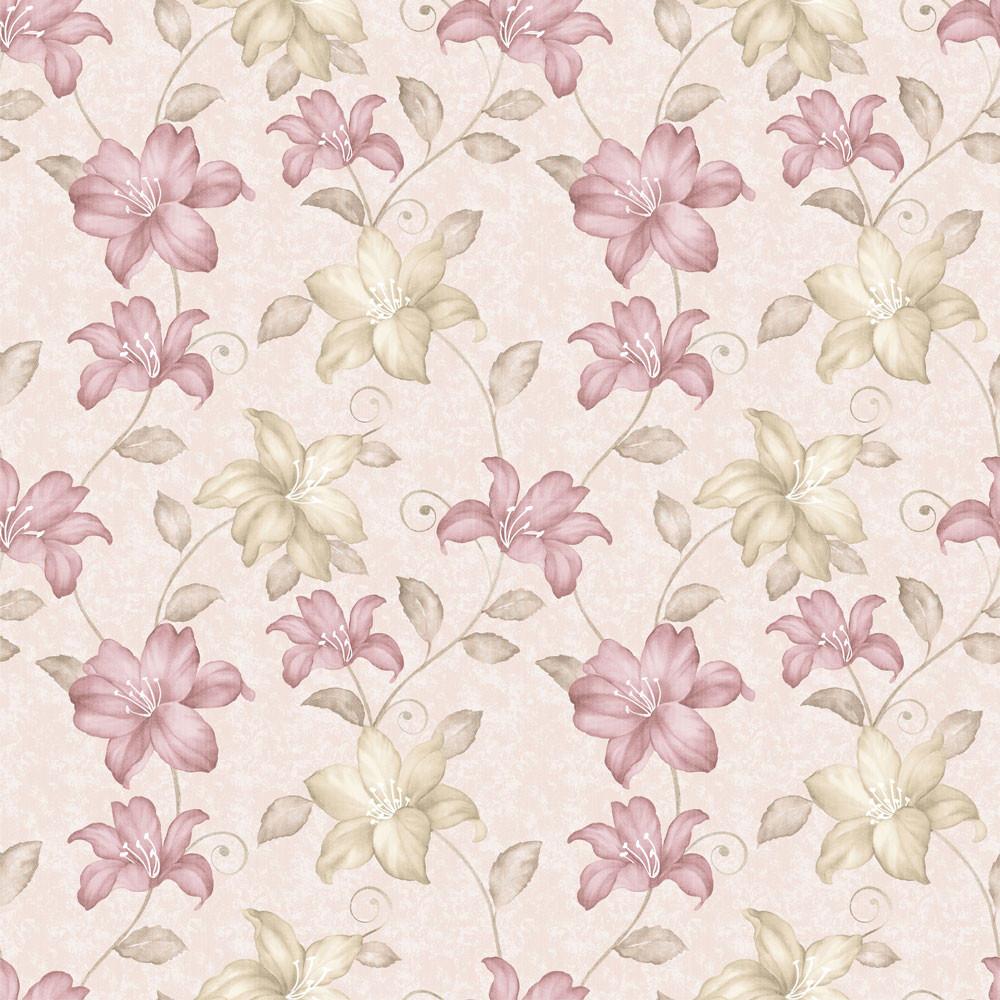 Papel de Parede Estampa Floral Lírios