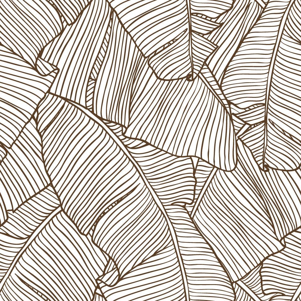 Papel de Parede Folhas de Palmeira (Marrom)