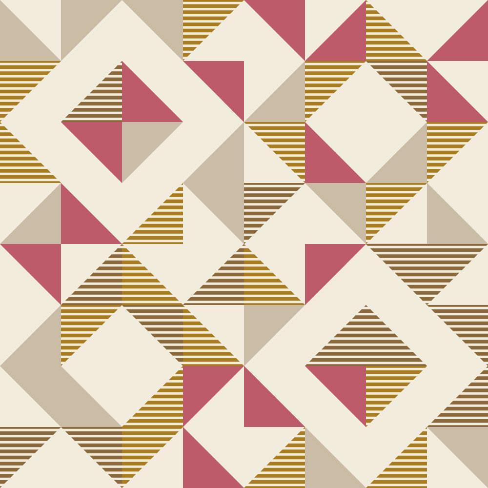 Papel De Parede Retrô Quadrados Abstratos