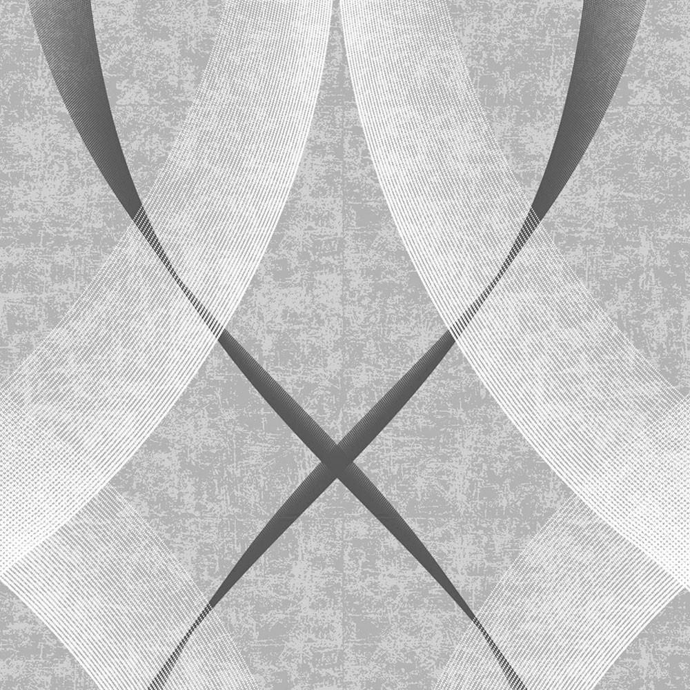 Papel de Parede Padrão Ondulado (Cinza)