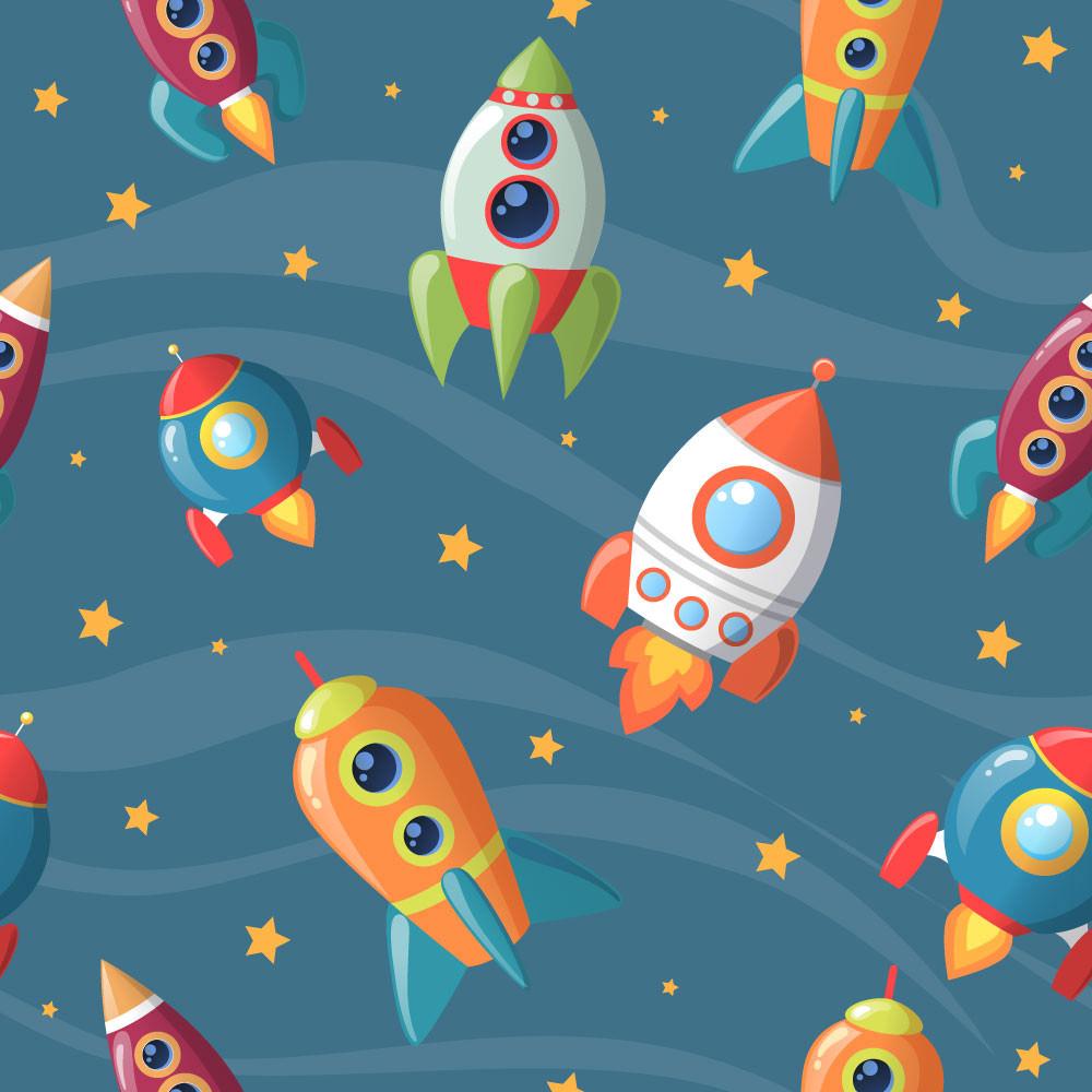 Papel de Parede Infantil Astronauta