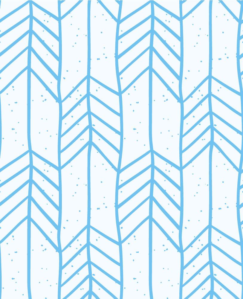 Papel de Parede Setas Infantis (Azul)