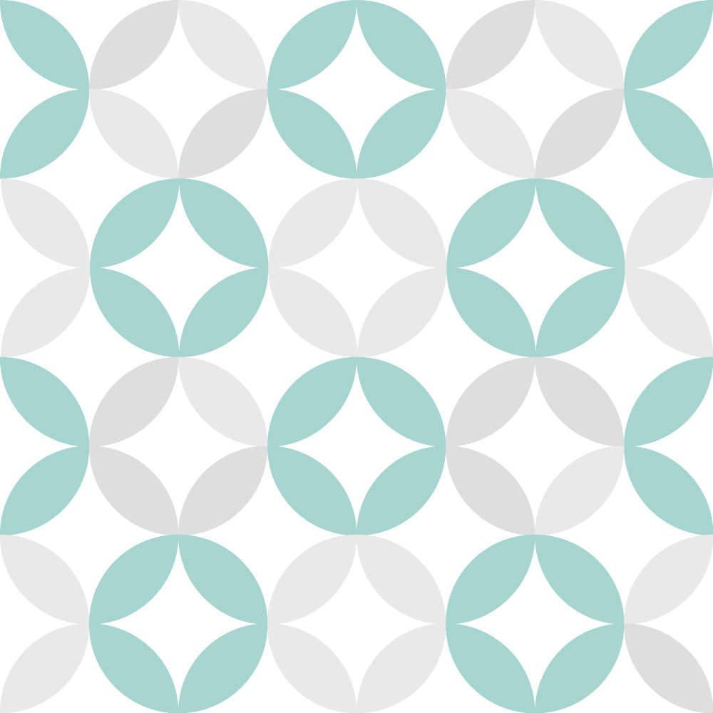 Papel de Parede Infantil Círculos (Verde e Cinza)