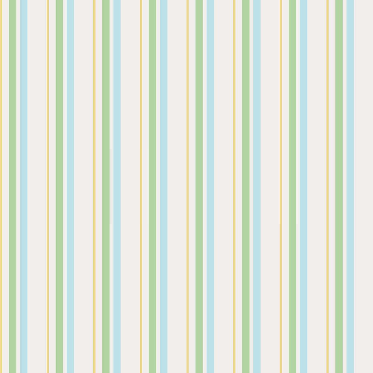Papel de Parede Listras (Verde, Amarelo e Azul)