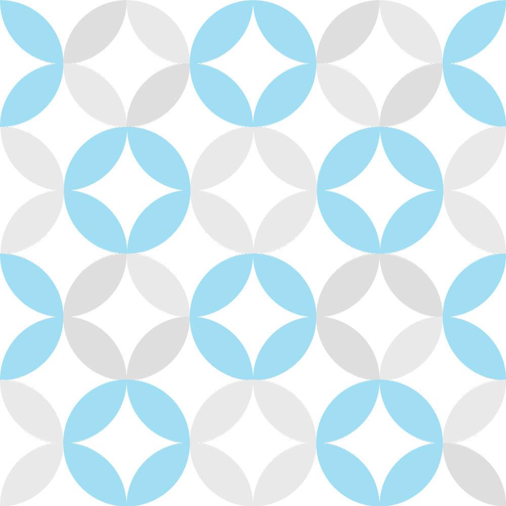Papel de Parede Infantil Círculos (Azul e Cinza)