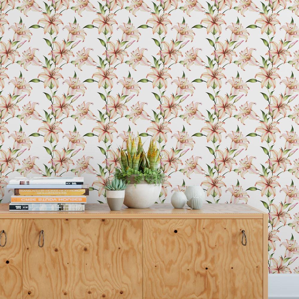 Papel de Parede Floral Lírios