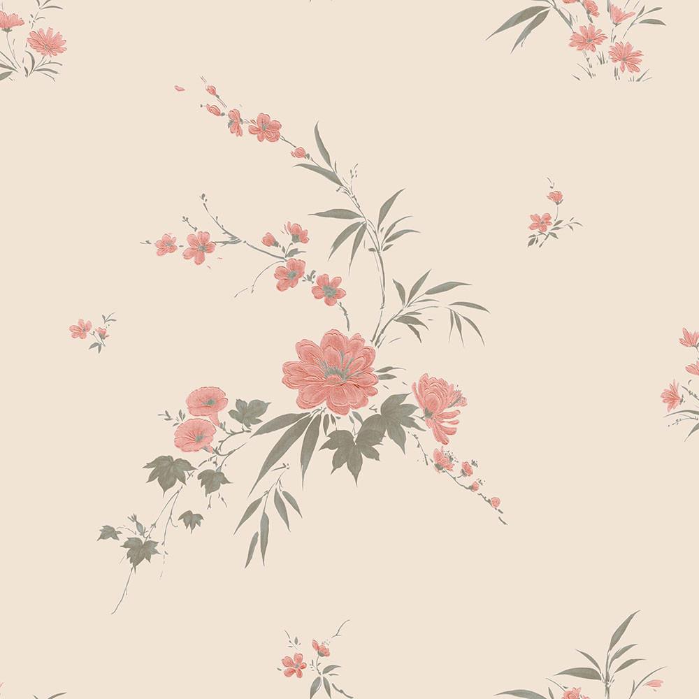 Papel de Parede Floral Delicado - Tons de Rosa