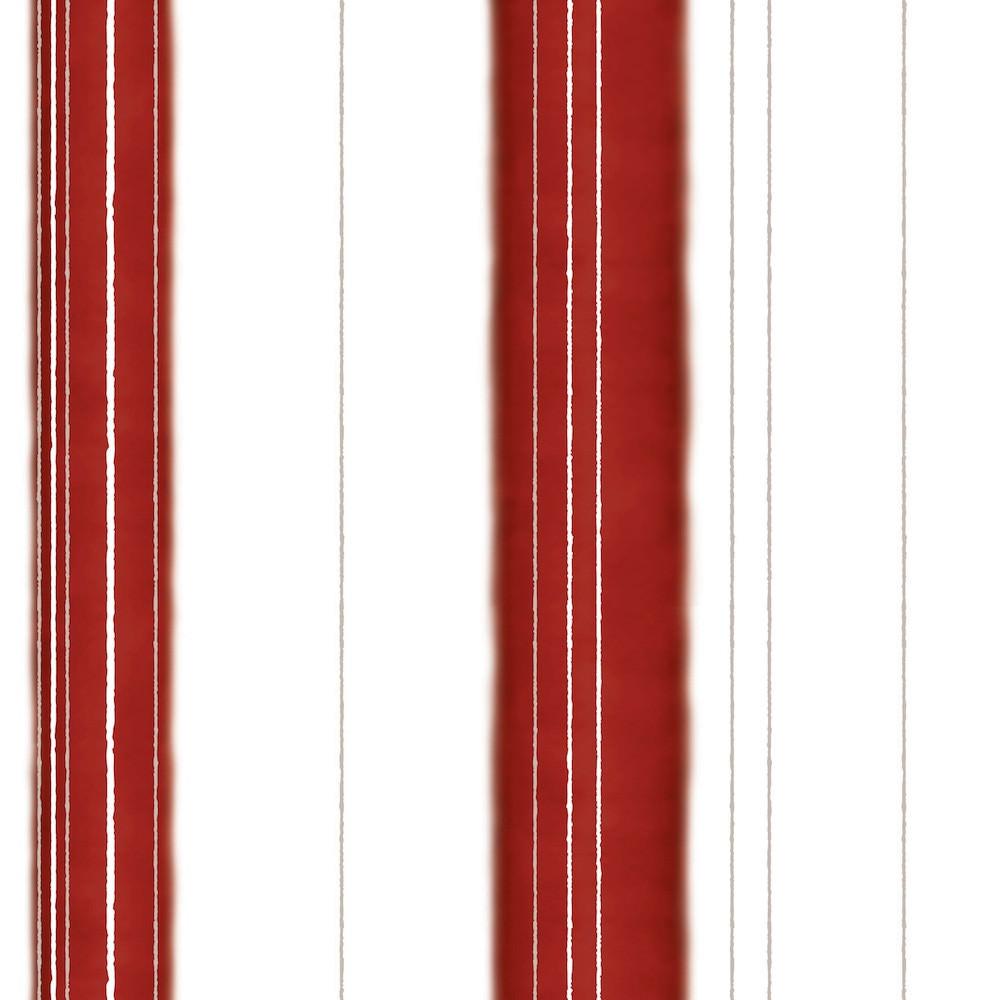 Papel de Parede Listras Vermelhas e Douradas