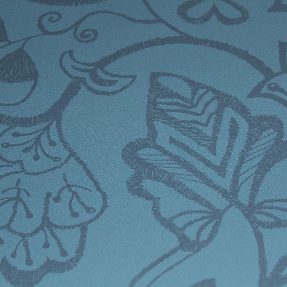 Papel de Parede Muresco Allegra Vinilico Floral Bordado Azul