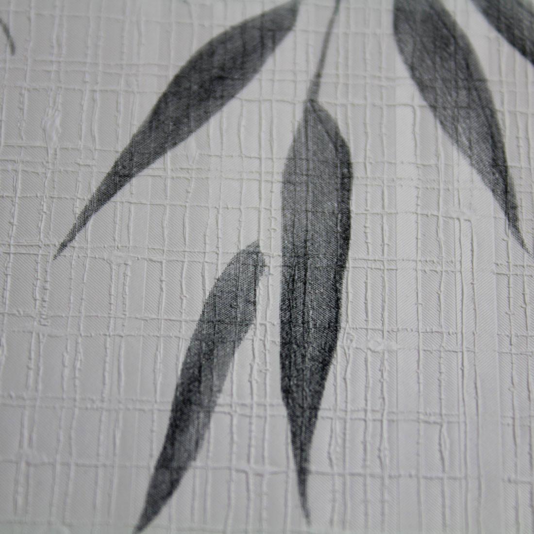 Papel de Parede Nuresco Allegra Floral Delicado Preto Cinza e Branco Textura