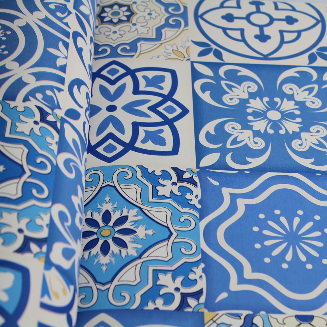 Papel de Parede Muresco Allegra Vinilico Azulejo Azul