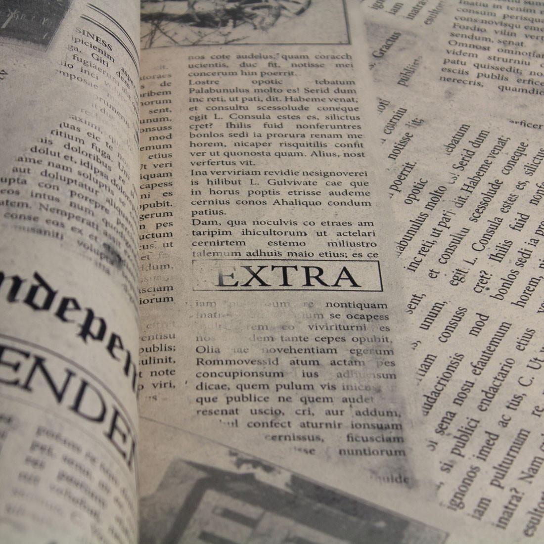 Papel de Parede Muresco Allegra Vinilico Recortes de Jornal Antigo