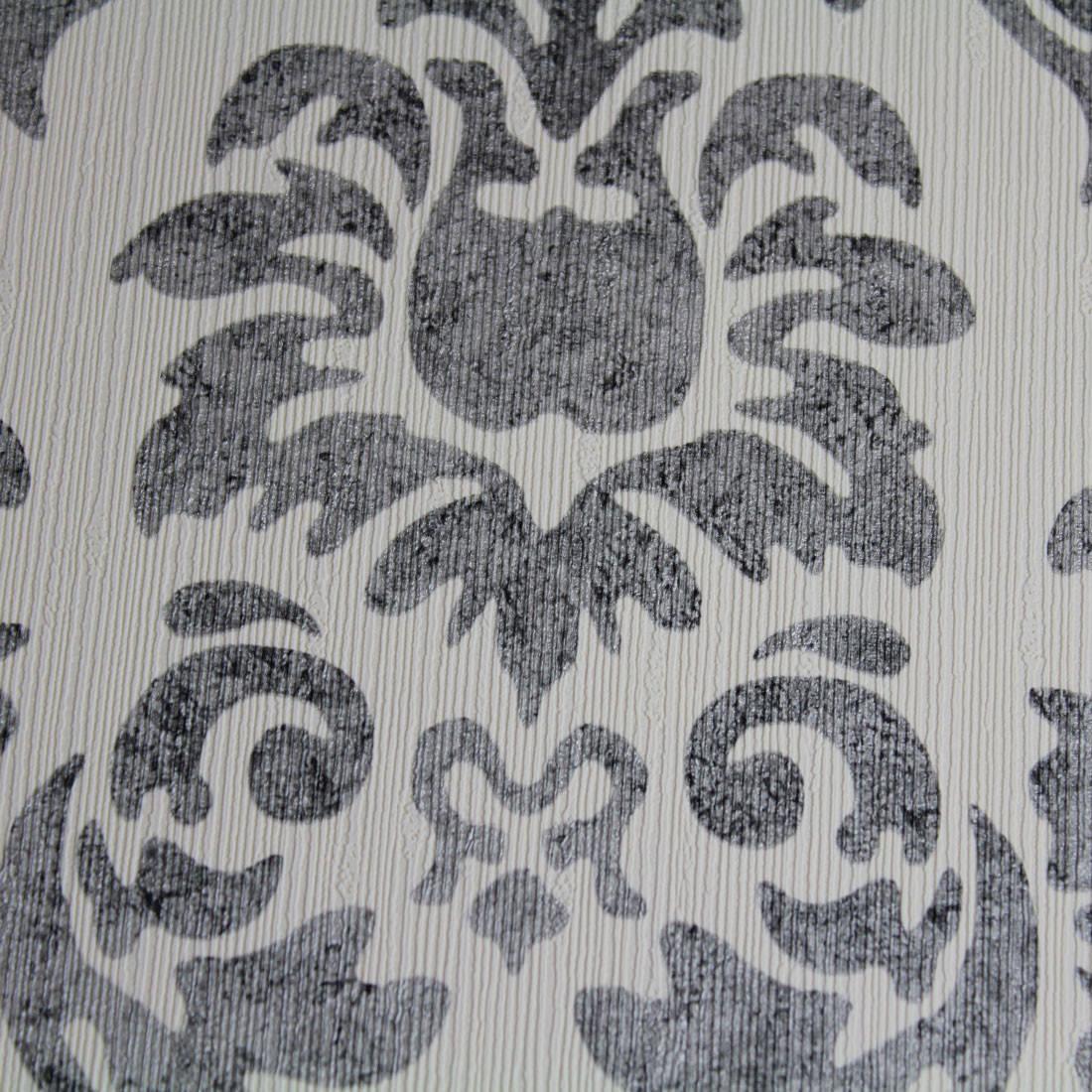 Papel de Parede Muresco Corium Arabesco Cinza Texturizada