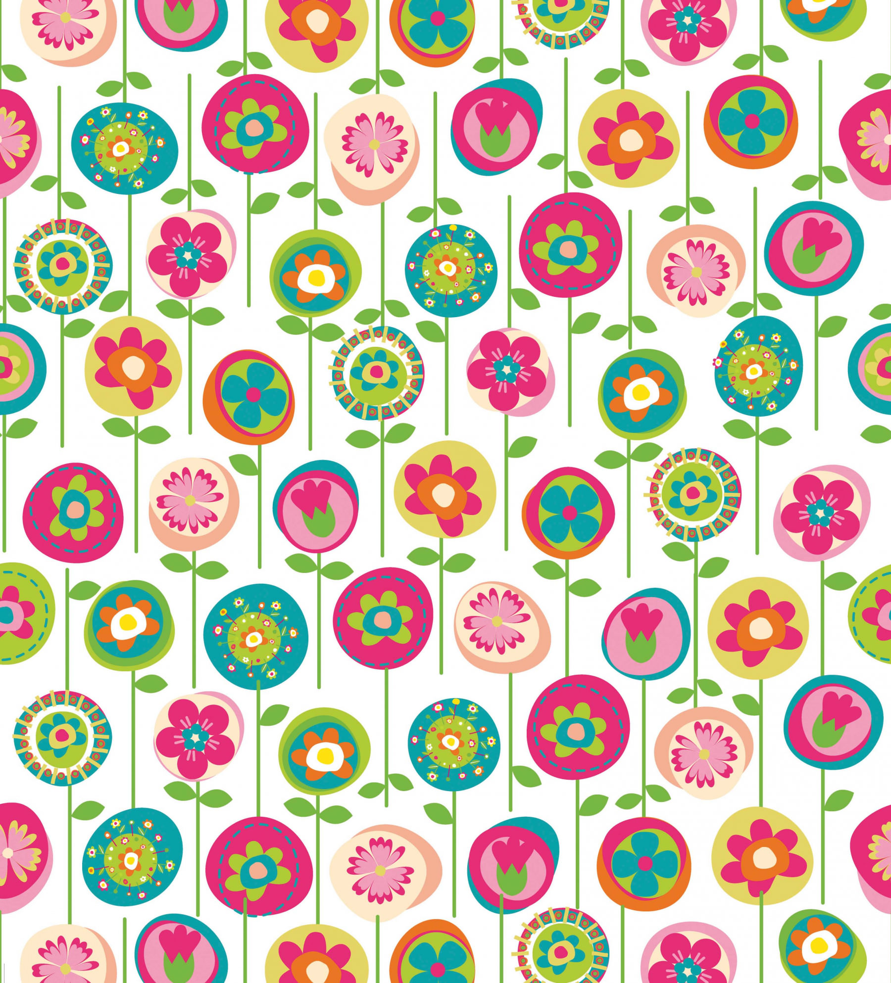Papel de Parede Infantil Flores - Has#Tag