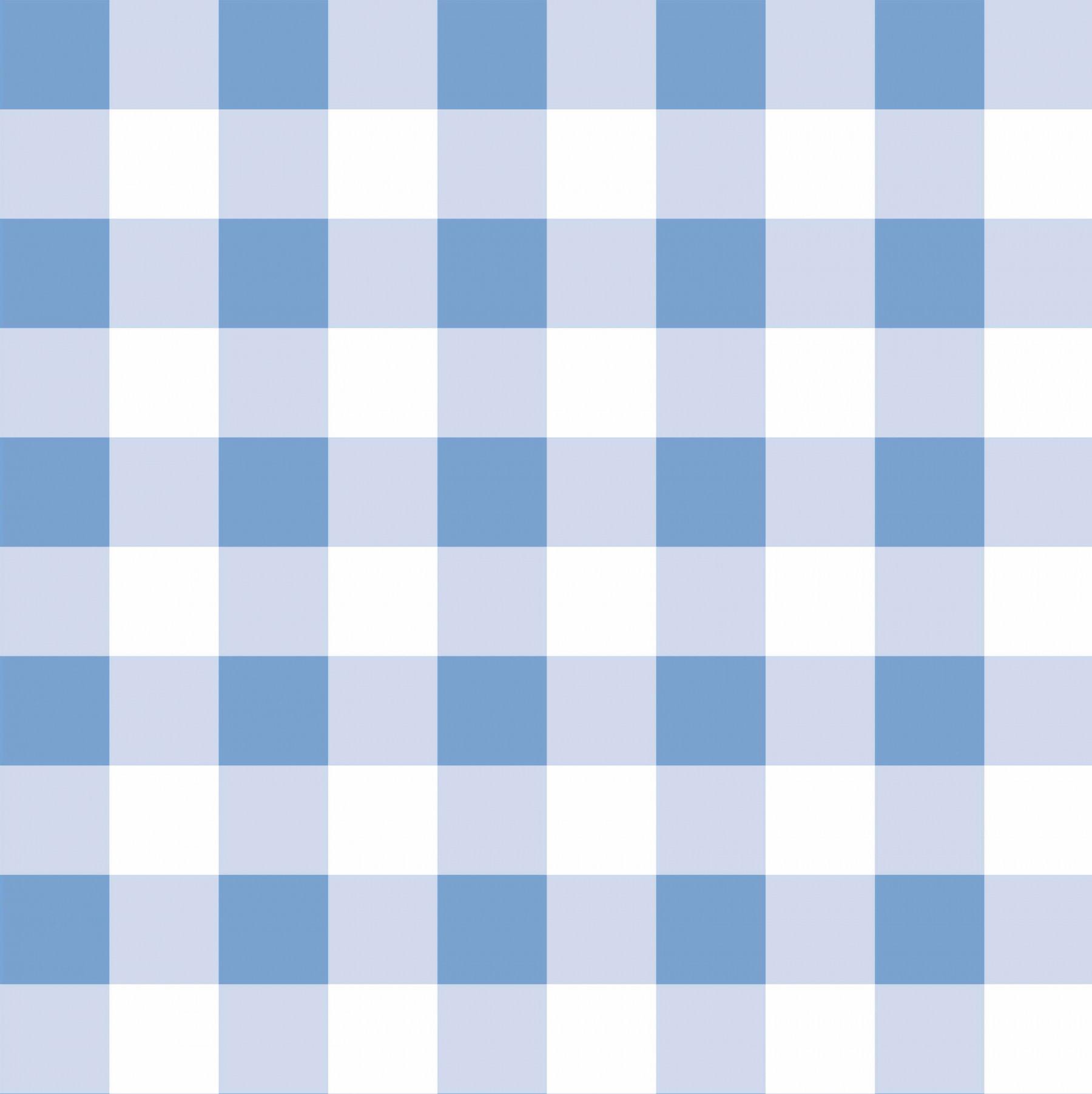 Papel de Parede Infantil Xadrez Azul - Has#Tag