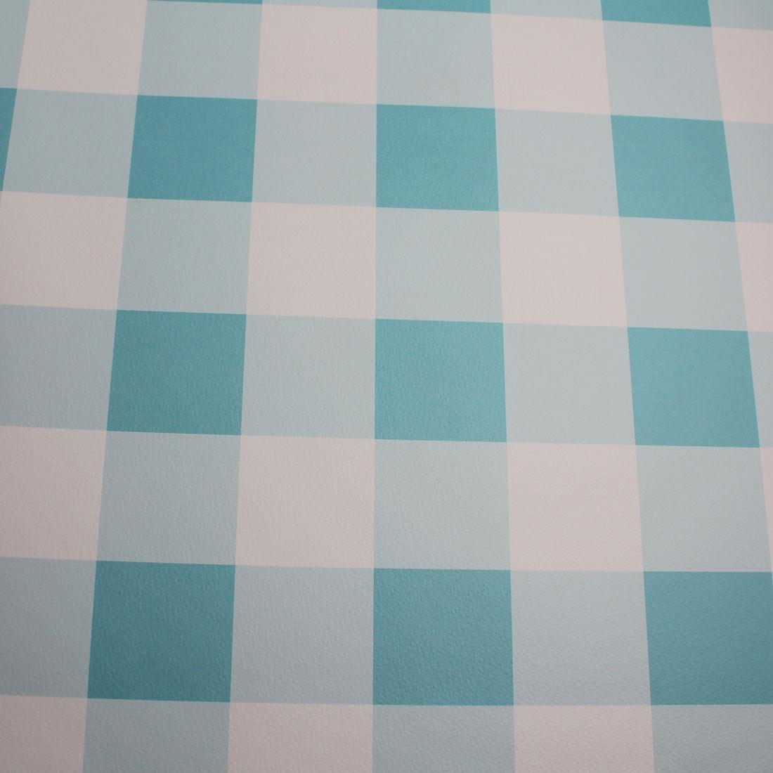 Papel de Parede Infantil Xadrez Azul Claro - Has#Tag