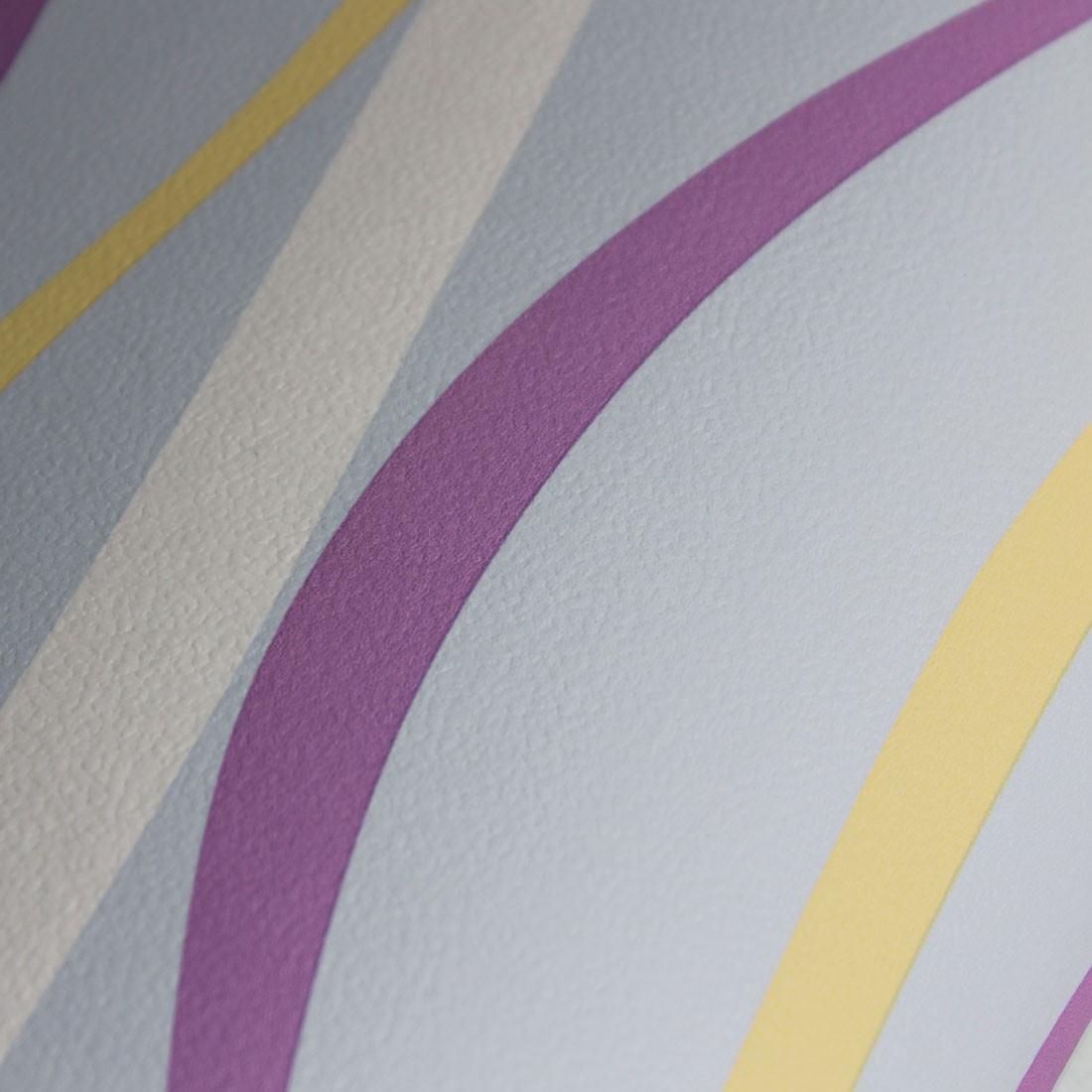 Papel de Parede Linhas Abstratas Fundo Azul- Has#Tag
