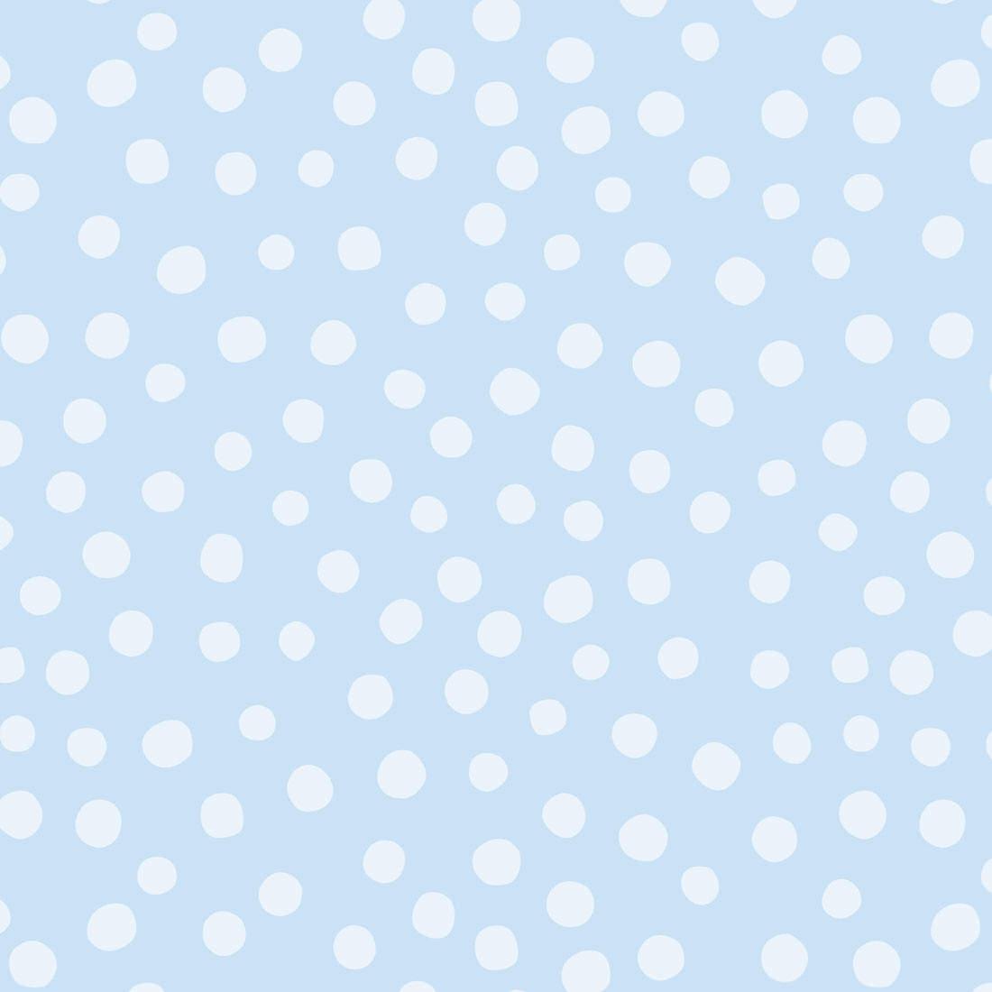 Papel de Parede Infantil Bolinhas Azuis - Nido