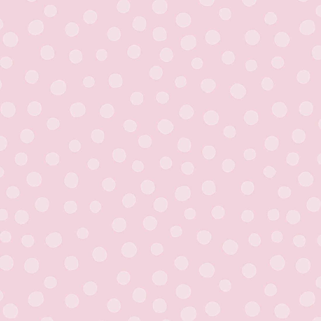Papel de Parede Infantil Bolinhas Rosas - Nido