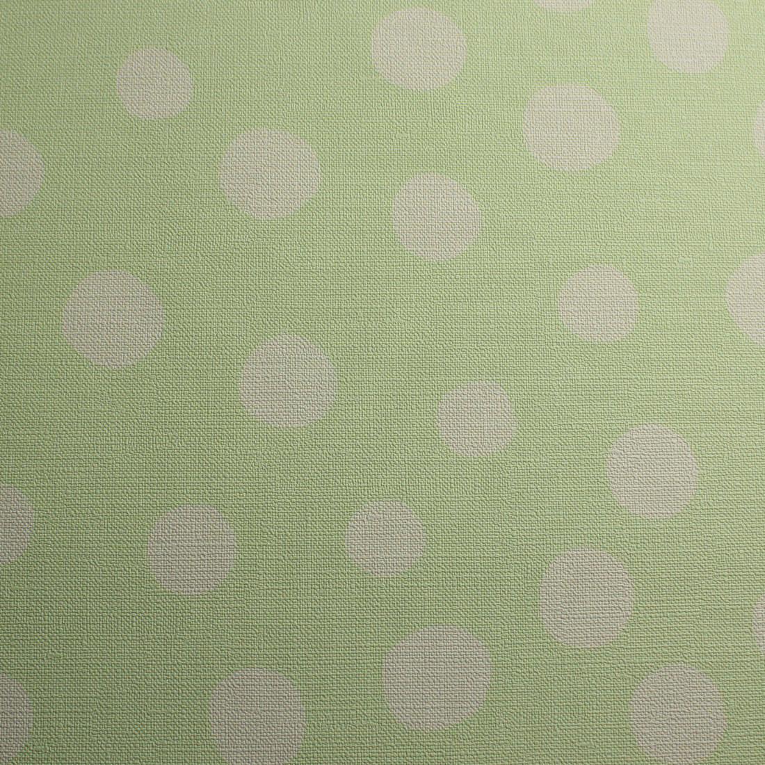 Papel de Parede Muresco Infantil Bolinhas Verdes - Nido