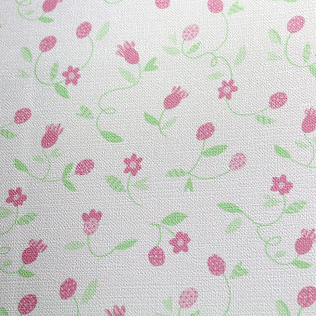 Papel de Parede Infantil Florzinhas rosa - Nido