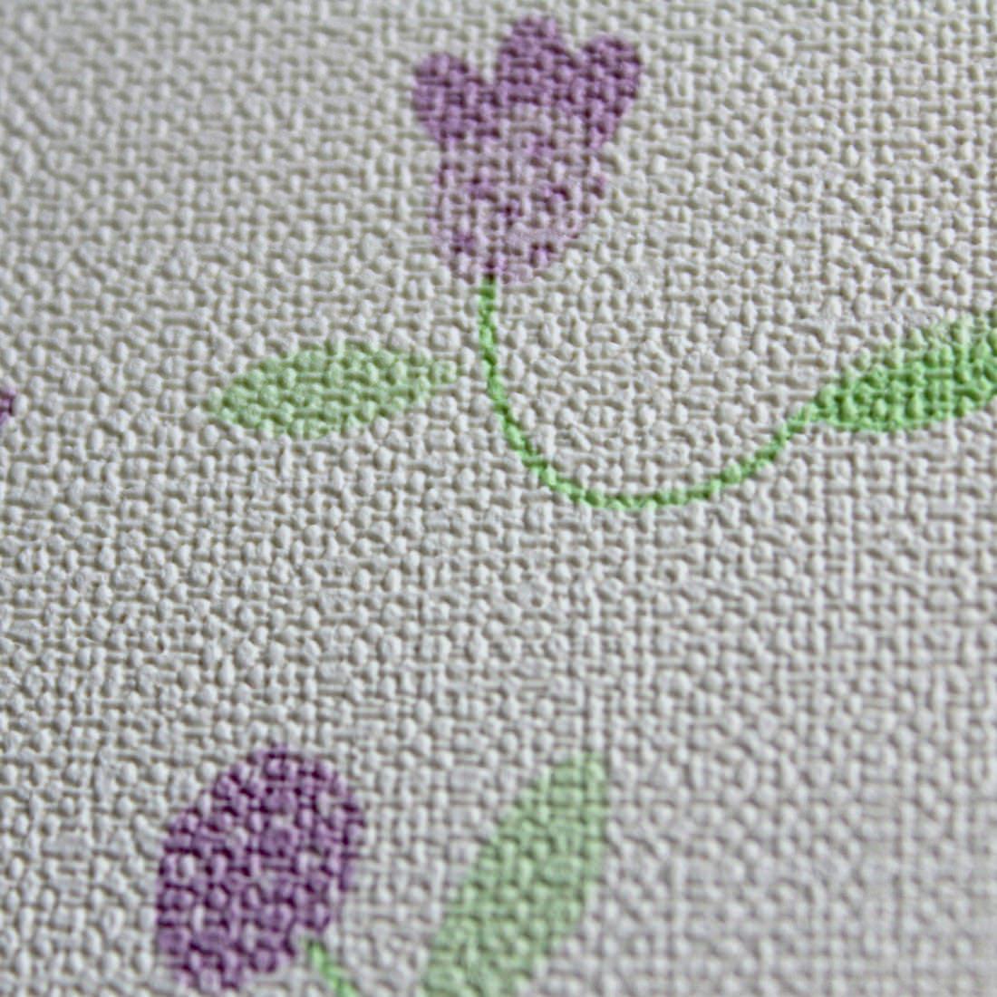 Papel de Parede Infantil Florzinhas Lilás - Nido