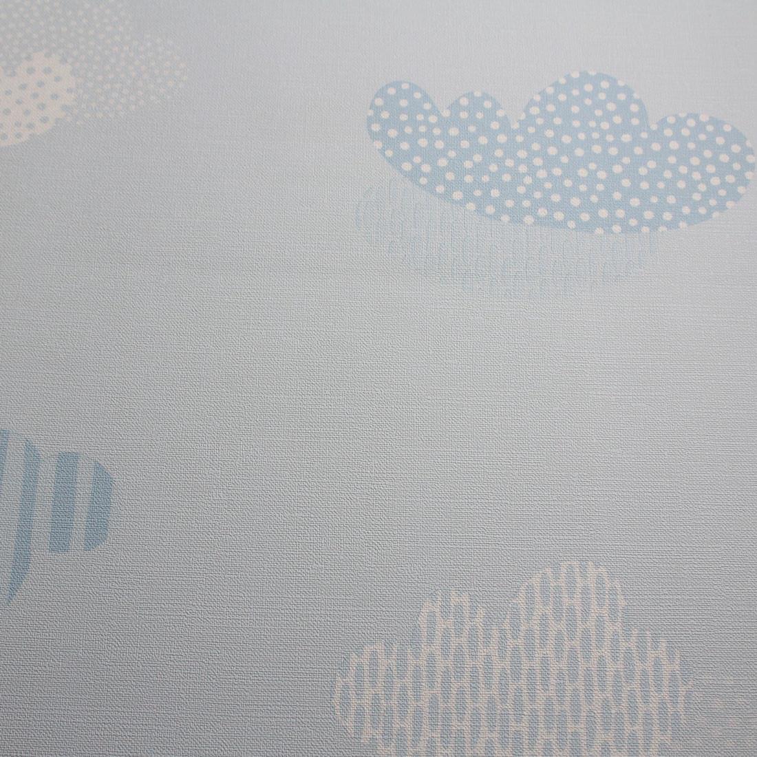 Papel de Parede Infantil Nuvens Fundo Azul - Nido
