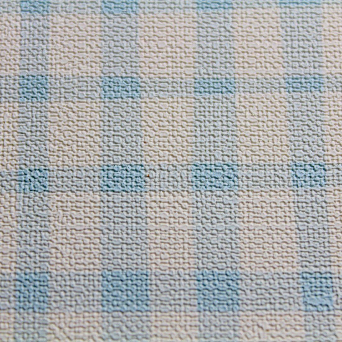 Papel de Parede Muresco Nido Xadrez Azul Textura