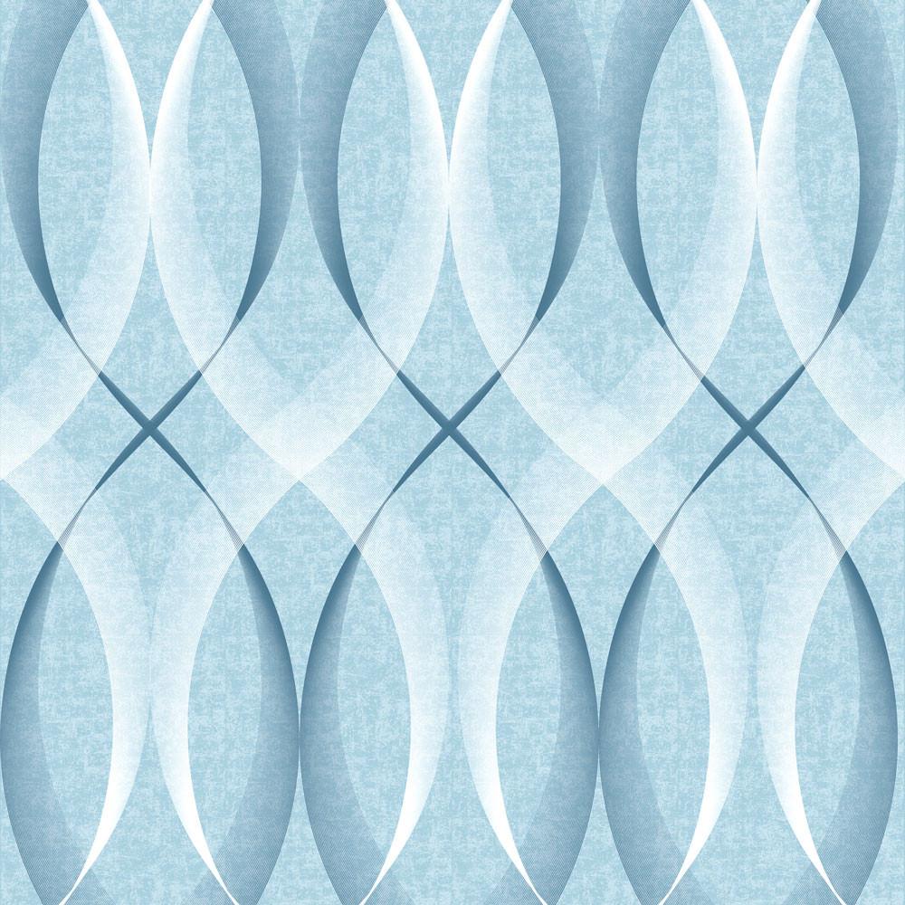 Papel de Parede Padrão Ondulado (Azul)